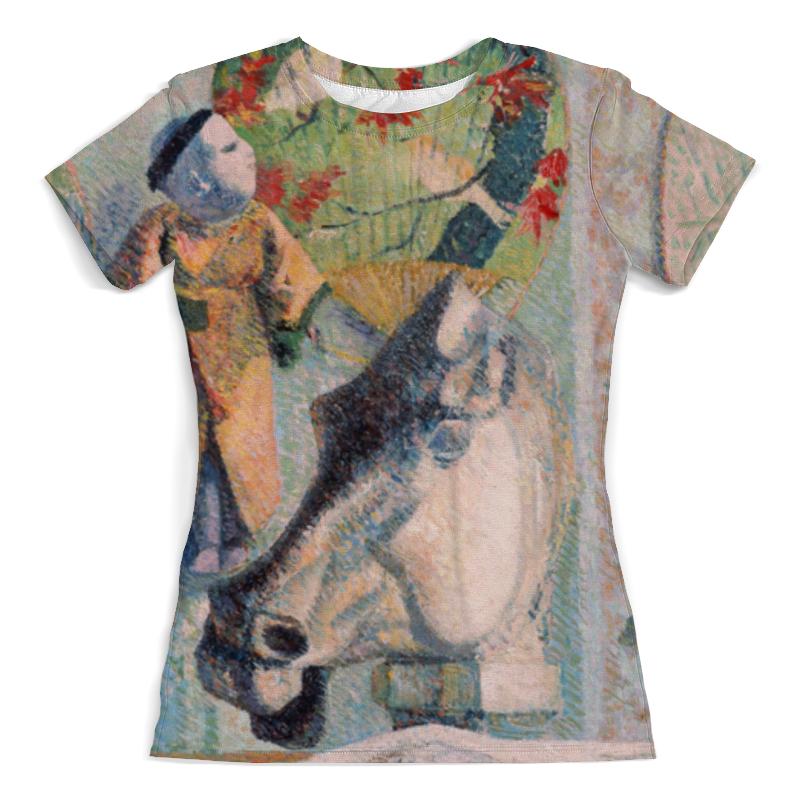 Футболка с полной запечаткой (женская) Printio Натюрморт с конской головой (поль гоген) футболка с полной запечаткой мужская printio натюрморт с конской головой поль гоген