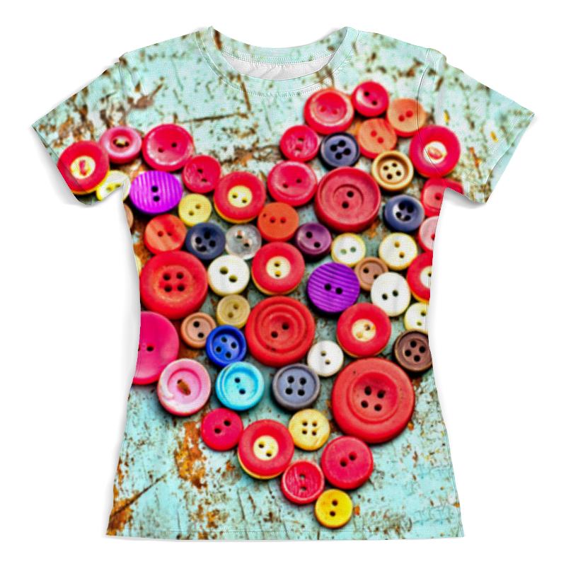 Футболка с полной запечаткой (женская) Printio Сердце из пуговиц футболка с полной запечаткой женская printio сердце