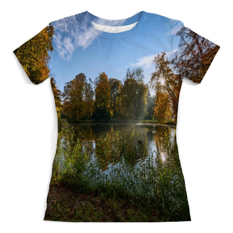 Футболка с полной запечаткой (женская) Printio Деревья у озера футболка с полной запечаткой женская printio певица у микрофона