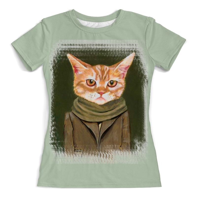 Футболка с полной запечаткой (женская) Printio Кот в пальто футболка с полной запечаткой женская printio кот граф