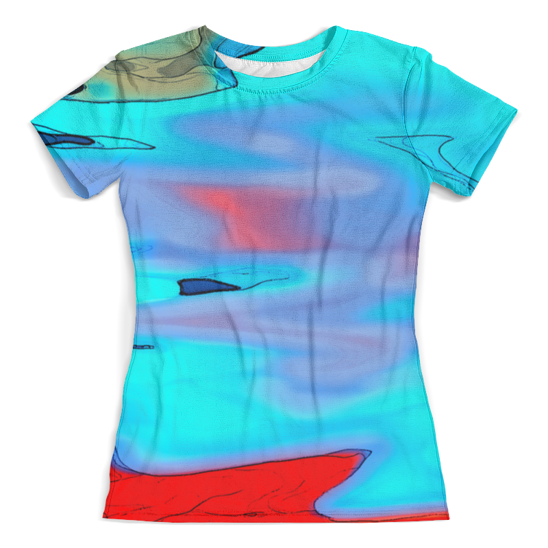 Футболка с полной запечаткой (женская) Printio Блики на воде футболка с полной запечаткой мужская printio блики