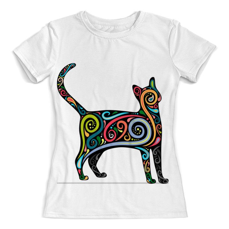 Футболка с полной запечаткой (женская) Printio Cat/ кошка футболка с полной запечаткой женская printio кошка