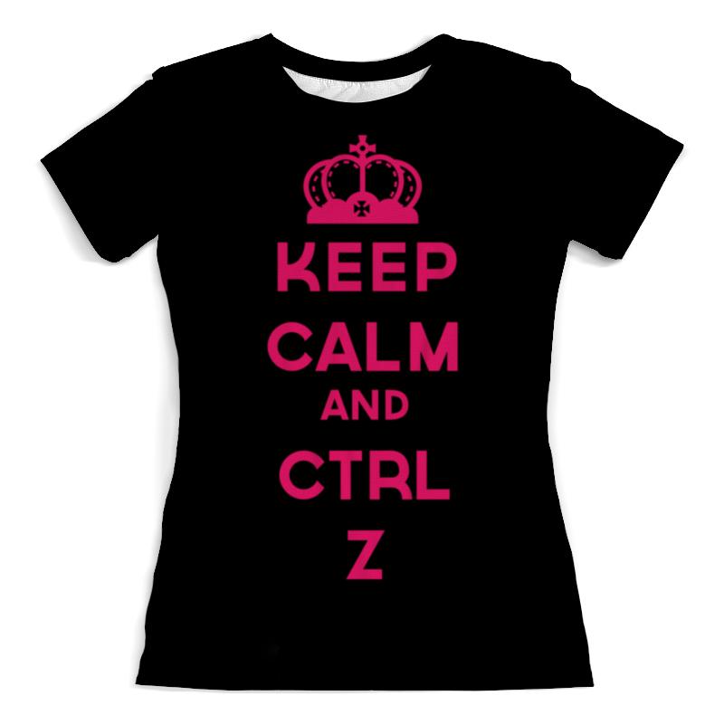 Фото - Футболка с полной запечаткой (женская) Printio Keep calm and ctrl z футболка с полной запечаткой женская printio keep calm