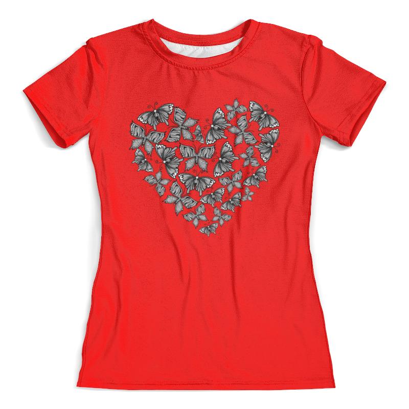 Футболка с полной запечаткой (женская) Printio Сердце из бабочек футболка с полной запечаткой женская printio сердце