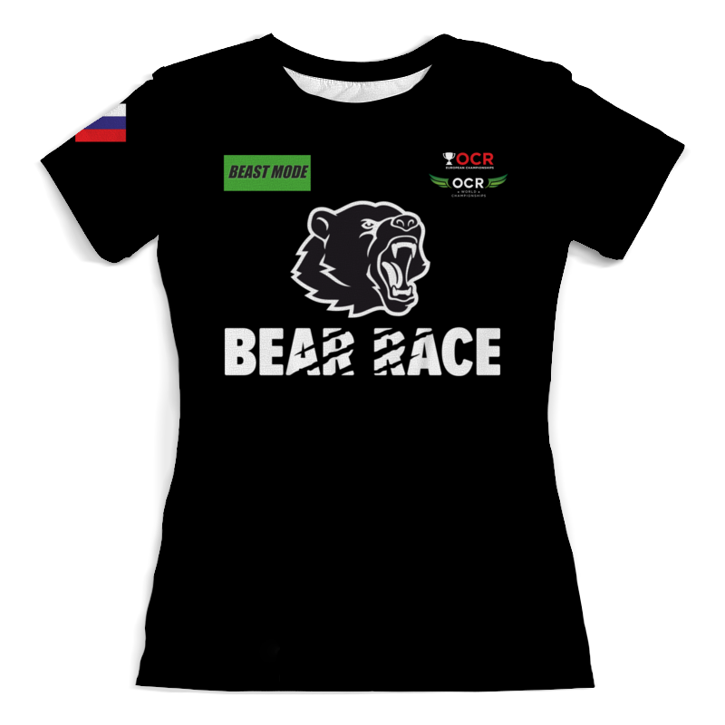 Футболка с полной запечаткой (женская) Printio Bear race beast mode russia футболка wearcraft premium printio bear race russia 2018