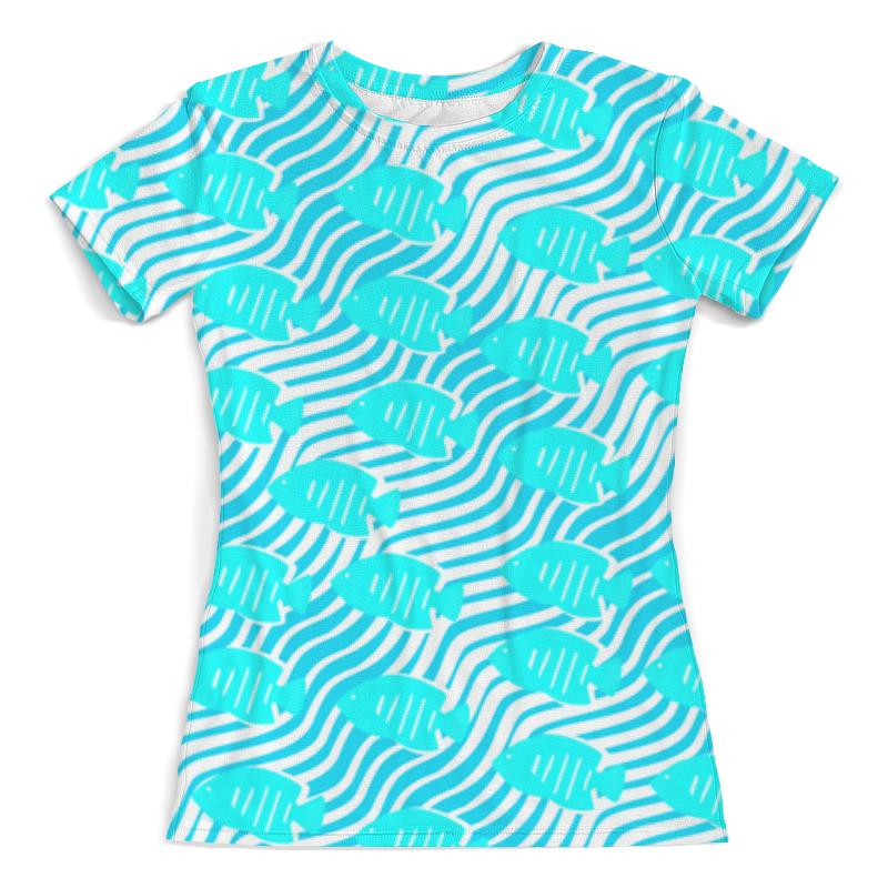 Футболка с полной запечаткой (женская) Printio Тропические рыбки футболка с полной запечаткой для мальчиков printio тропические рыбки