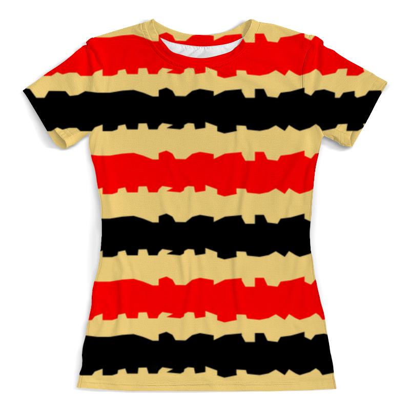 Футболка с полной запечаткой (женская) Printio Полоски с рванными краями футболка с полной запечаткой женская printio полоски с рванными краями
