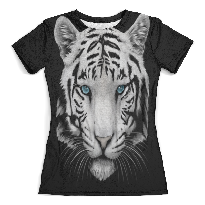 Футболка с полной запечаткой (женская) Printio Белый тигр цена и фото