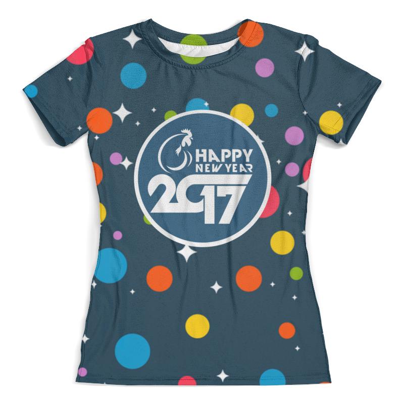 Футболка с полной запечаткой (женская) Printio Happy new year 2017 футболка с полной запечаткой женская printio battlefield v