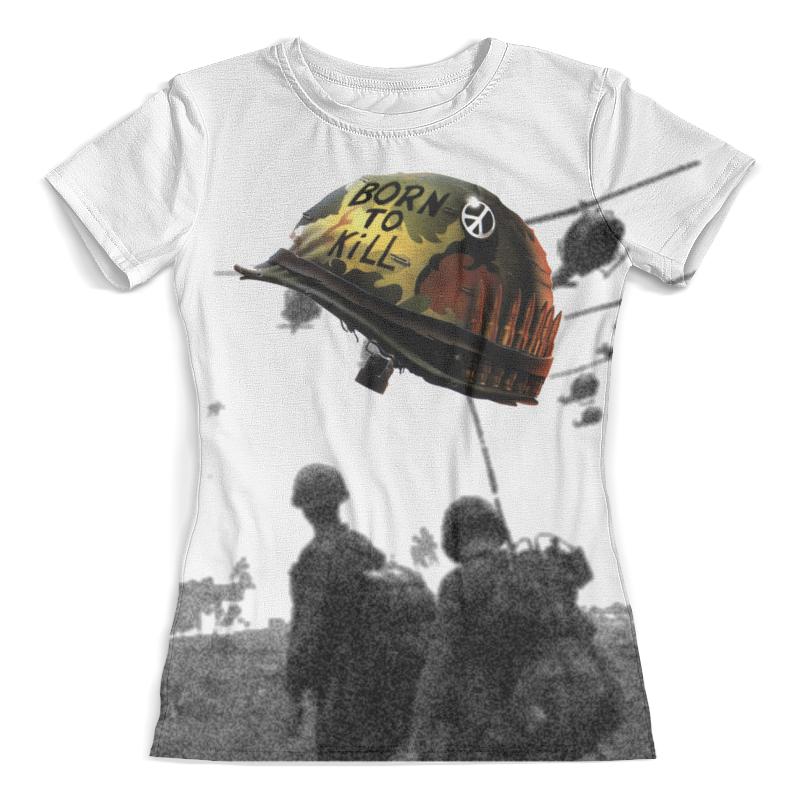 Футболка с полной запечаткой (женская) Printio Born to kill футболка print bar how to kill a zombie
