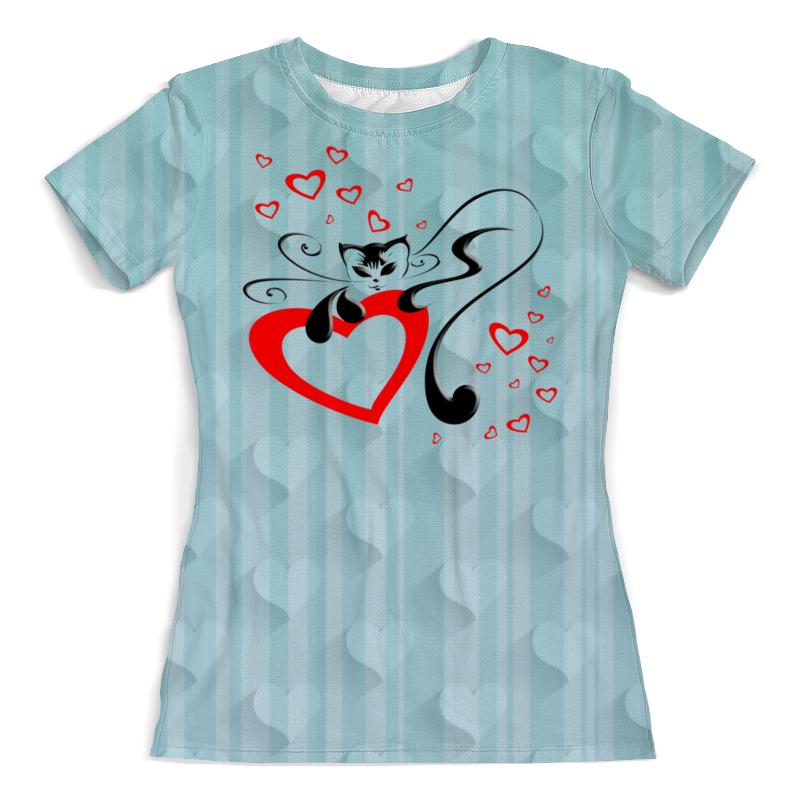 Printio Кошечка (1) футболка с полной запечаткой женская printio чёрная кошечка