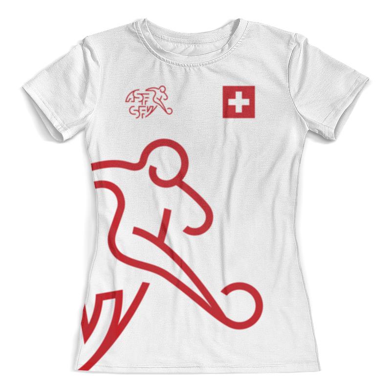 Футболка с полной запечаткой (женская) Printio Сборная швейцарии косметика из швейцарии интернет магазин