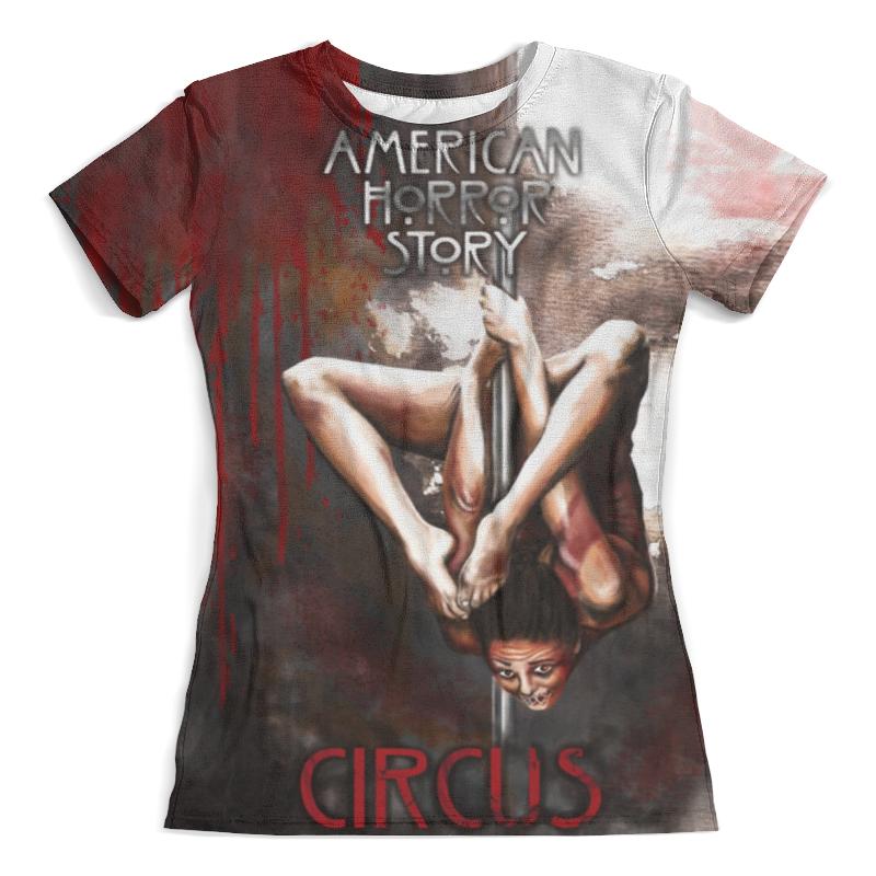 Футболка с полной запечаткой (женская) Printio American horror story женская рубашка european and american big c002617 2015