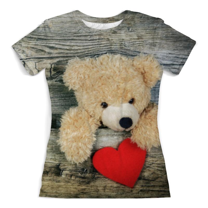 Футболка с полной запечаткой (женская) Printio Плюшевый медведь недорго, оригинальная цена