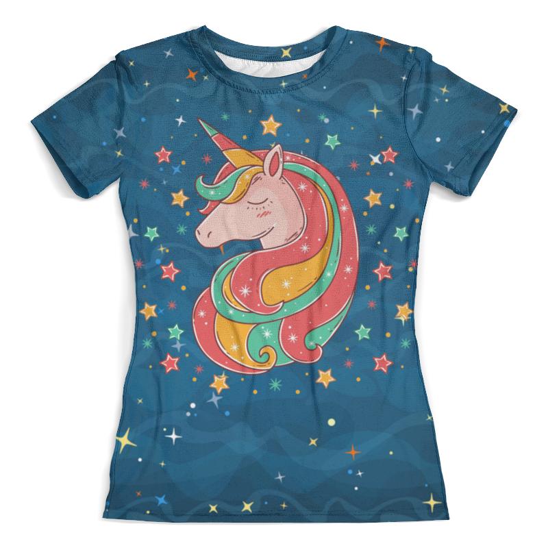 Футболка с полной запечаткой (женская) Printio Единорог (1) футболка с полной запечаткой женская printio unicorn единорог