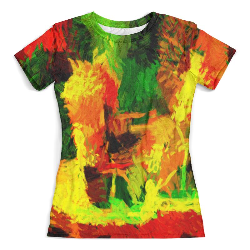 Футболка с полной запечаткой (женская) Printio Акварельные краски