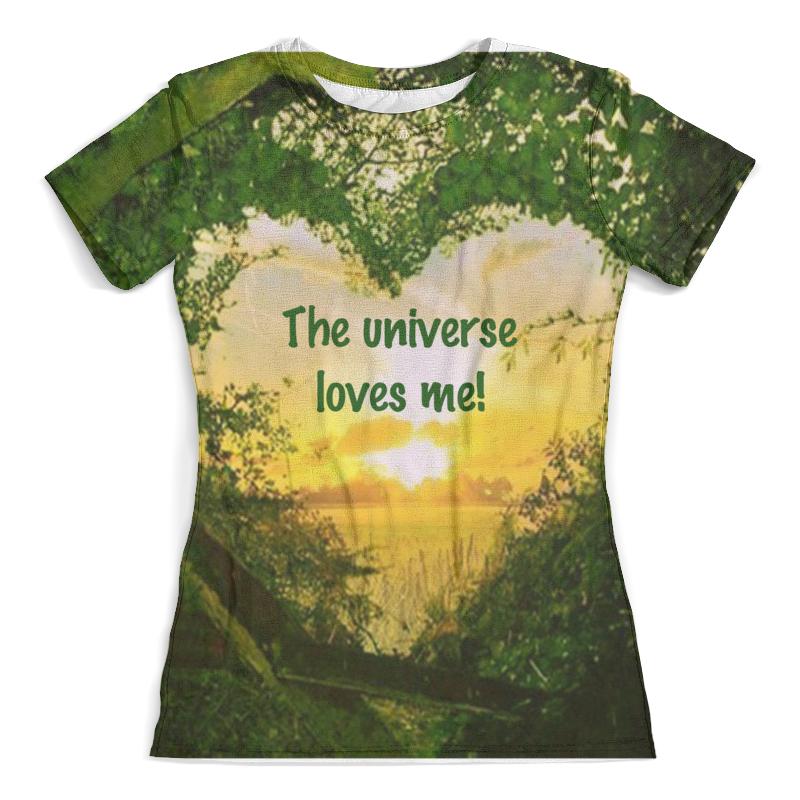 Футболка с полной запечаткой (женская) Printio Вселенная любит меня футболка с полной запечаткой женская printio вселенная