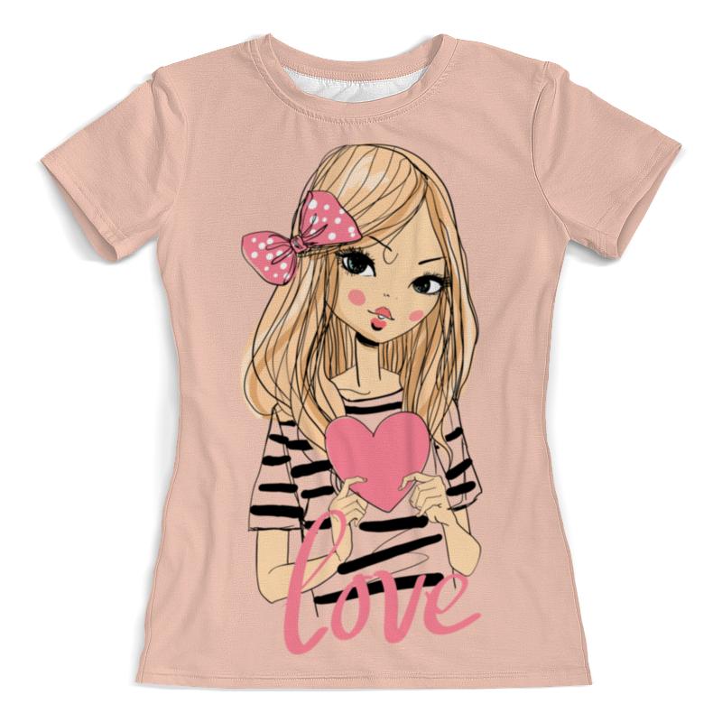 Футболка с полной запечаткой (женская) Printio Девочка футболка с полной запечаткой мужская printio девочка с персиками