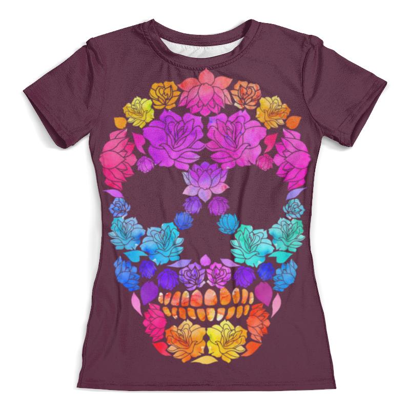 Футболка с полной запечаткой (женская) Printio Skull art футболка с полной запечаткой женская printio anget art