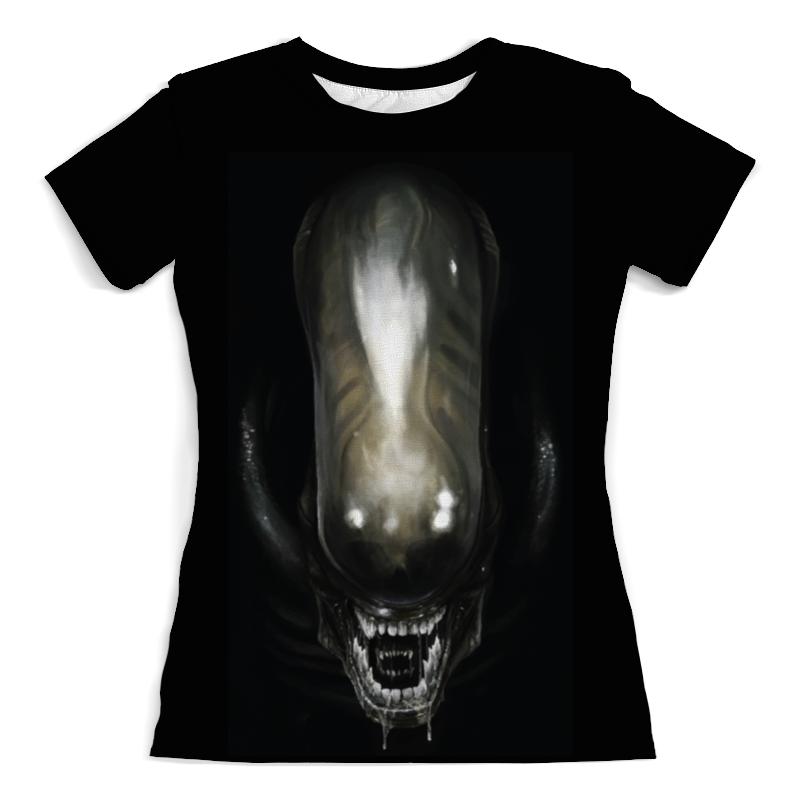 Футболка с полной запечаткой (женская) Printio Alien / чужой (женская) футболка с полной запечаткой  женская
