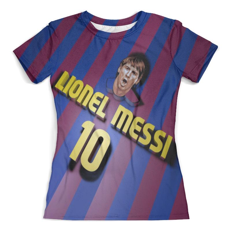 Футболка с полной запечаткой (женская) Printio Lionel messi фигурка argentina lionel messi