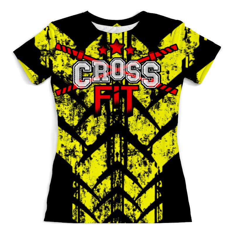 Футболка с полной запечаткой (женская) Printio Crossfit скакалка скоростная proxima crossfit jr 7001 r red