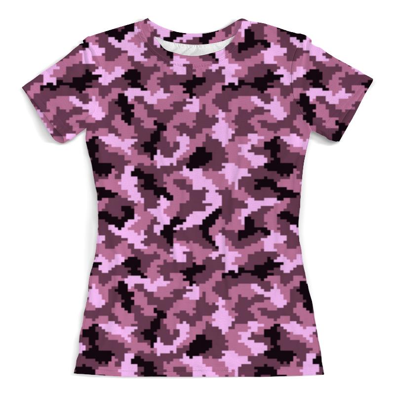 Printio Розовый камуфляж футболка с полной запечаткой женская printio розовый шиповник