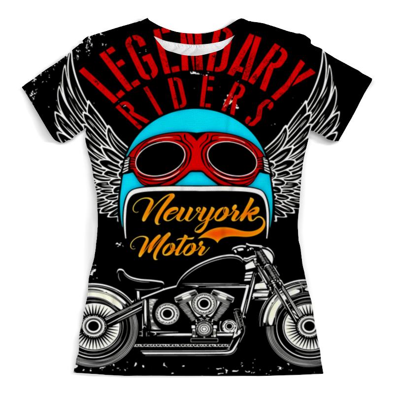 Футболка с полной запечаткой (женская) Printio Legendary riders футболка rude riders футболка