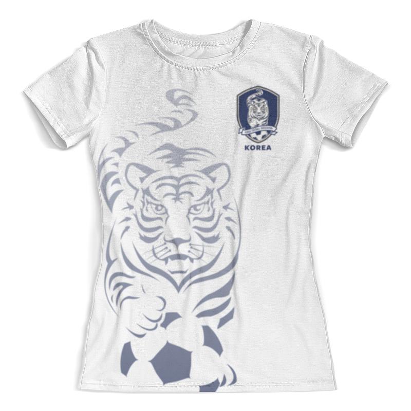 цена Футболка с полной запечаткой (женская) Printio Сборная кореи