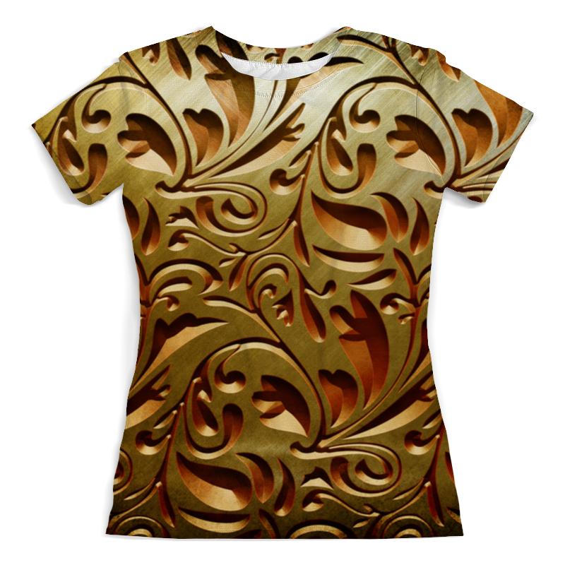 Футболка с полной запечаткой (женская) Printio Золотой узор 3d женская футболка other 2015 3d loose batwing harajuku tshirt t a50