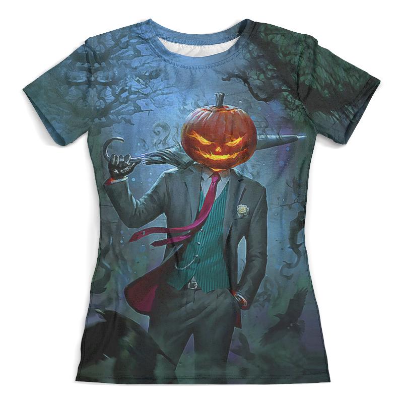 Футболка с полной запечаткой (женская) Printio Halloween pumpkin plus size pumpkin halloween ripped sweater