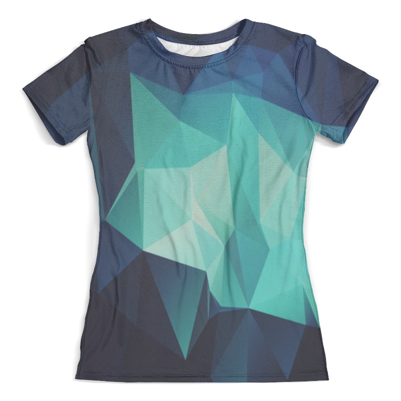 Футболка с полной запечаткой (женская) Printio Polygon style худи print bar polygon city