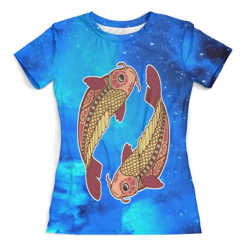Футболка с полной запечаткой (женская) Printio Зодиак-рыбы цены онлайн