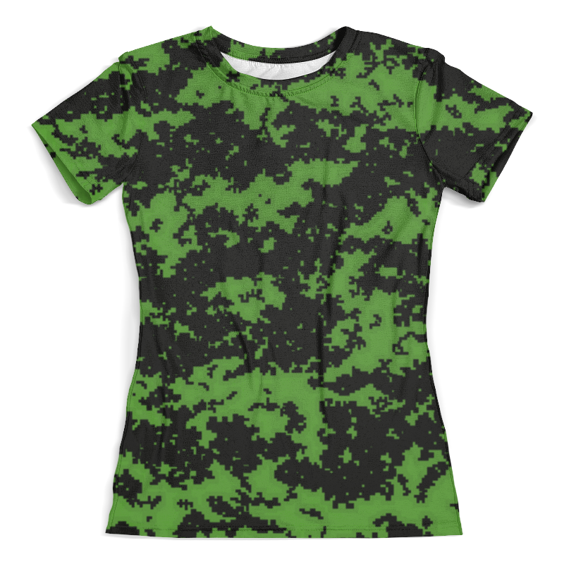 Футболка с полной запечаткой (женская) Printio Green camouflage