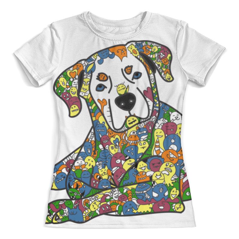 Футболка с полной запечаткой (женская) Printio Собака из дудл монстров рубашка поло с полной запечаткой printio собака из дудл монстров