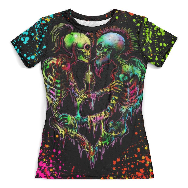 Футболка с полной запечаткой (женская) Printio Psychedelic футболка flip psychedelic black