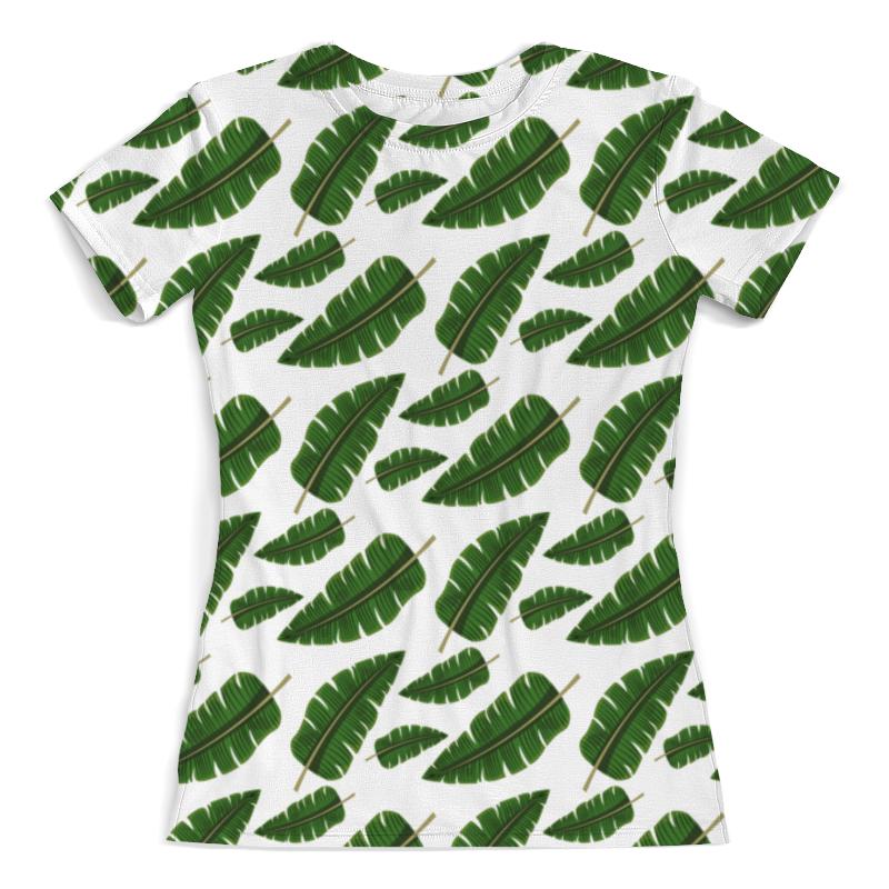 лучшая цена Футболка с полной запечаткой (женская) Printio Тропические листья