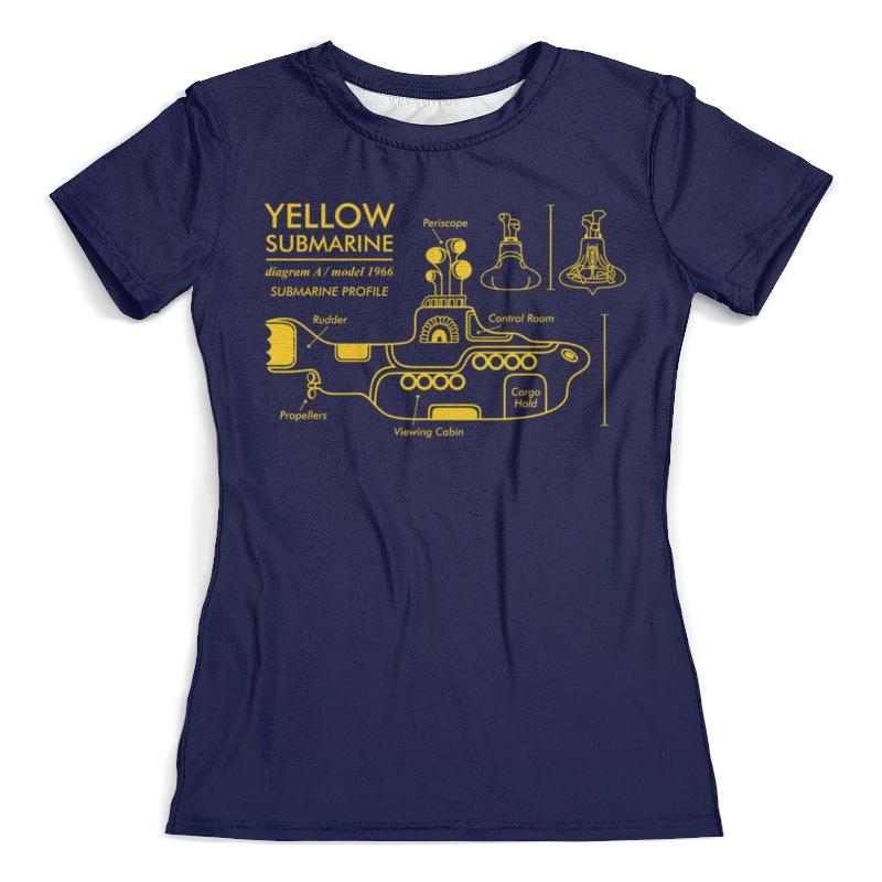 все цены на Футболка с полной запечаткой (женская) Printio Yellow submarine
