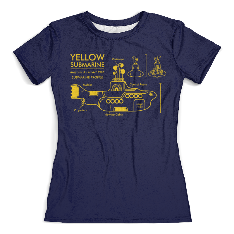 Футболка с полной запечаткой (женская) Printio Yellow submarine магнит the beatles yellow submarine