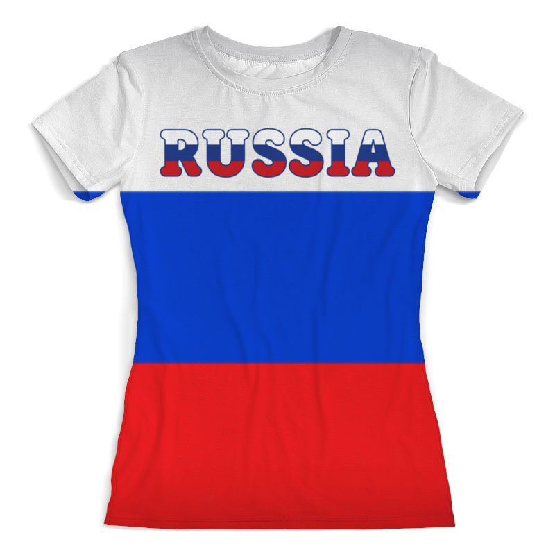 Футболка с полной запечаткой (женская) Printio Я люблю россию футболка с полной запечаткой женская printio я люблю свою собаку