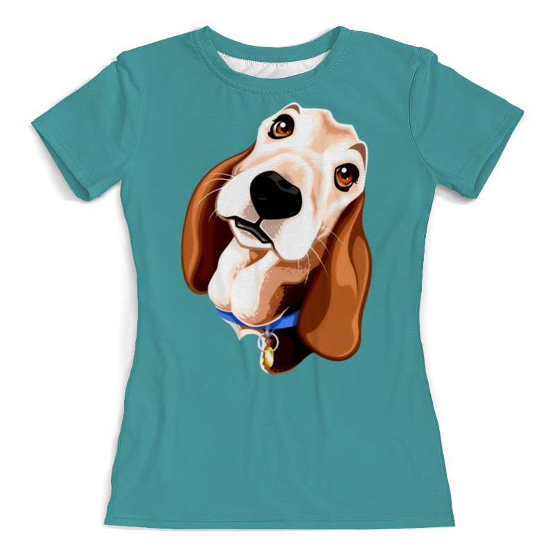 Футболка с полной запечаткой (женская) Printio Смешная собачка (1) футболка с полной запечаткой женская printio хипповая собачка 1