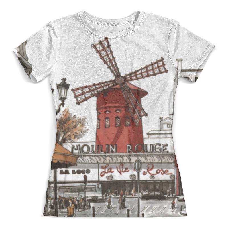 Футболка с полной запечаткой (женская) Printio Moulin rouge moulin villa