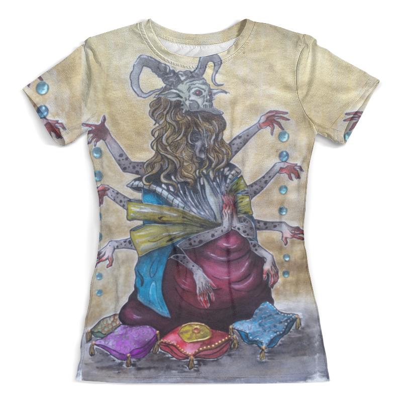 Футболка с полной запечаткой (женская) Printio Demon of dark fate from milanna гиря с характером демон 16 кг original fit tools kb 16 demon