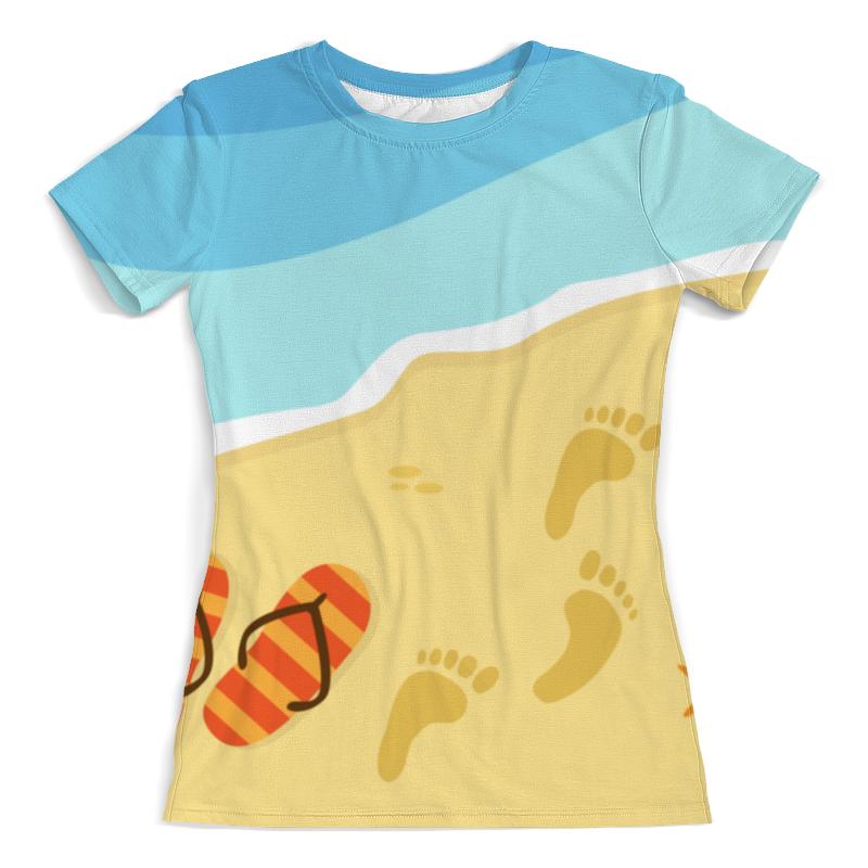 Printio Пляж. футболка с полной запечаткой для девочек printio пляж