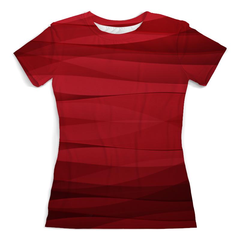 Футболка с полной запечаткой (женская) Printio Красная абстракция dor flinger сумка женская df 8261 красная