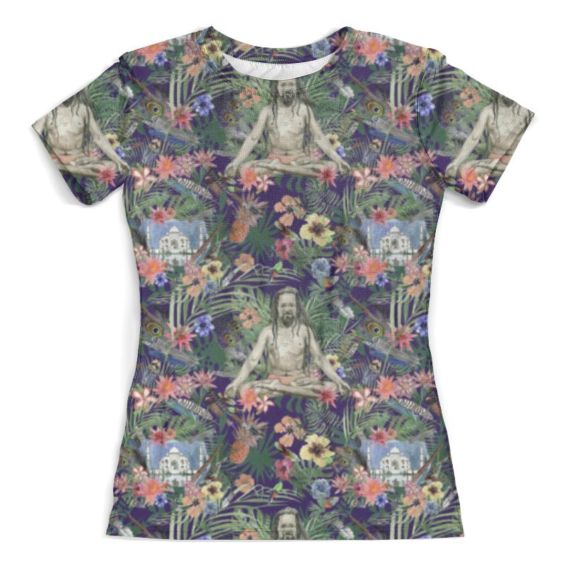 Футболка с полной запечаткой (женская) Printio Yog &taj mahal design (night) футболка с полной запечаткой мужская printio yog