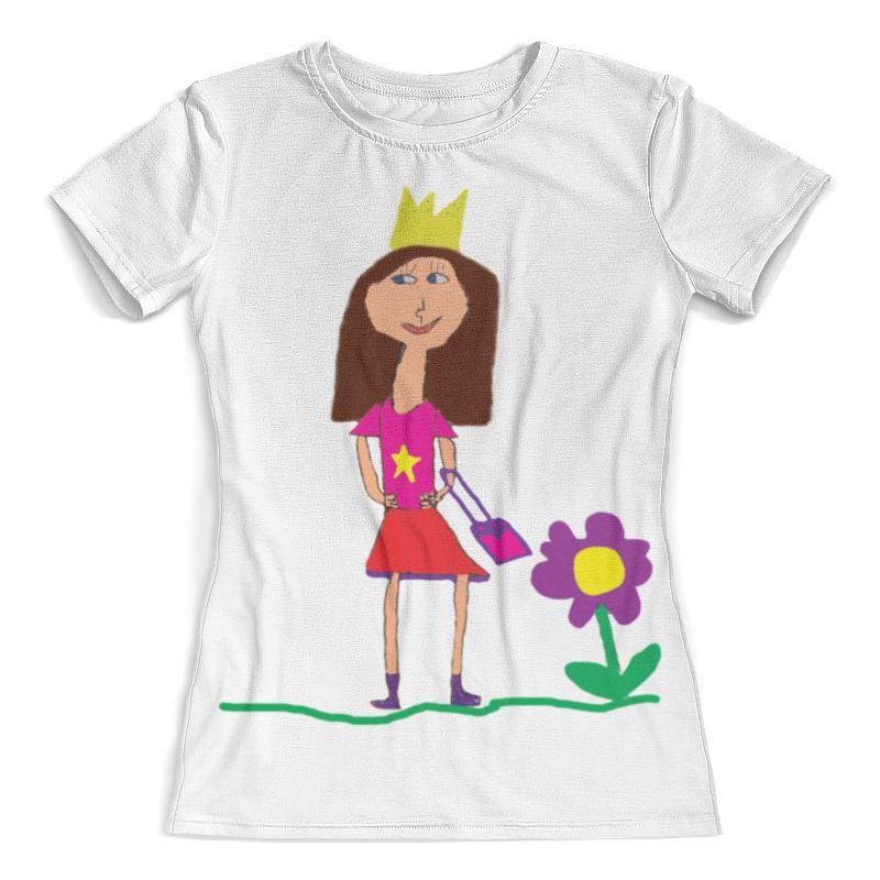 Футболка с полной запечаткой (женская) Printio Я принцеска футболка с полной запечаткой женская printio я подарок