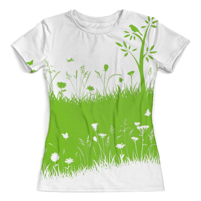 Футболка с полной запечаткой (женская) Printio Летняя трава борцовка с полной запечаткой printio летняя трава