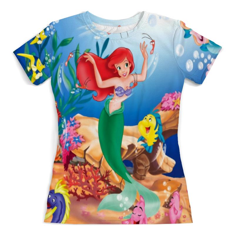 Футболка с полной запечаткой (женская) Printio Русалочка / the little mermaid футболка с полной запечаткой printio х у й ё б