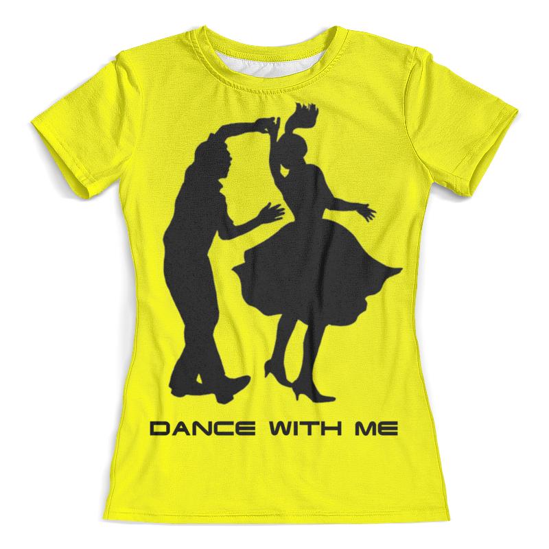 Футболка с полной запечаткой (женская) Printio Dance with me майка print bar dance with me